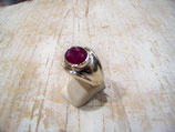 Bague rubis oval