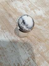 Bague Agate Dendritique ronde