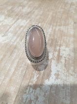 Bague quartz rose ovale
