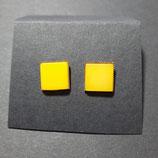 Ohrstecker gelb/matt
