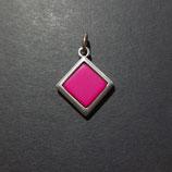 Polarisanhänger quadrat/pink/matt