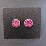 Ohrstecker pink/goldstein