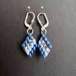 Ohrringe blau/hellblau/silber