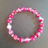 Armband Bandachat/pink