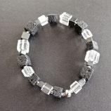 Armband schwarz/grau/weiss