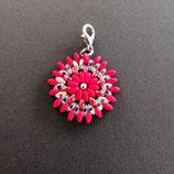 Anhänger Blume rot/kristall