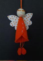 Filzengel orange
