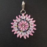 Anhänger Blume rosé/kristall