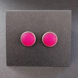 Ohrstecker pink/matt