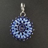 Anhänger Blume hellblau