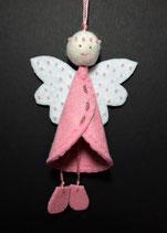Filzengel rosa