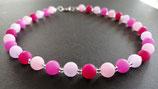 Polariskette in pink/rosa/fuchsia/lila