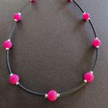 Kette schwarz/pink