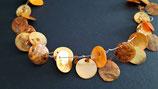 Perlmuttkette Orange