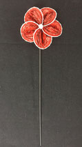 Blume rot-spez Zackenrand