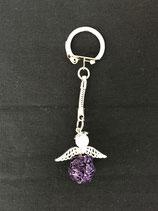 Schlüsselanhänger violett