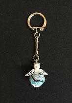 Schlüsselanhänger silber-blau-schwarz