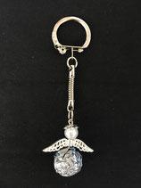 Schlüsselanhänger silber-türkis