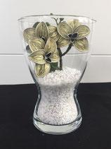 Vase mit Orchideen vanille