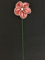 Blume rosa, Zackenrand