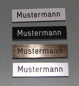 Klingelschild,Türschild, Namensschild, Briefkastenschild 65x20x0,8mm