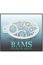 Bad Ass BAM stencil - 1421 - Zahnräder