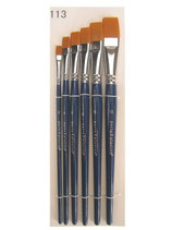 PXP Pinselset - 6 Flachpinsel - One Stroke