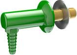 L050WSA Cuerpo montado en cubierta o panel con extremo de manguera dentada  antisalpicaduras de 90 grados.