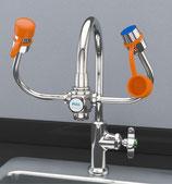 EW101 EyeSafe-X ™ Lavaojos montado en el grifo, cabezales de salida aireados ajustables