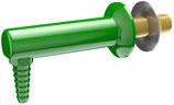L051WSA Cuerpo montado en panel con extremo de manguera dentada anti-salpicaduras de 90 grados.