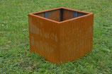 Hochbeet Urban 0,75 x 0,75 m - Cortenstahl/Edelrost