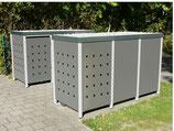 Stanzung für Rückwand der Mülltonnenbox (pro Boxabteil)