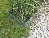Rasenkanten Metall Set Viereckform 74x74 cm und 12 cm hoch