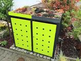 PFLANZDACH pulverbeschichtet in Müllboxfarbe pro Müllboxabteil