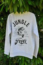 "Sweater ""Jungle Fever"" grey/black"