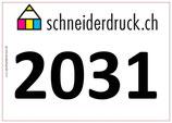 Startnummer selbstklebend farbig, Art. 2031