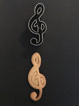 Präge-Ausstechform  Notenschlüssel / Violinschlüssel 2