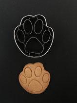 Präge-Ausstechform Hundepfote 2