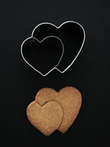Präge-Ausstechform Doppel-Herz