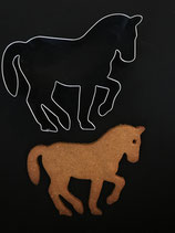 Ausstechform Pferd in Piaffe