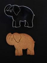 Präge-Ausstechform Elefant 1