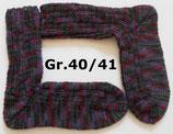 dicke Socken, Gr.40/41, grau-lila-rot