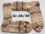Socken, Gr.38/39,  beige gemustert
