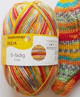 Regia Sockenwolle, 150g, 6-fach, fröhlich bunt