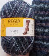 Regia Sockenwolle, 100g, 4-fach, grau-dunkelblau-taupe