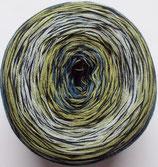 Bobbel Cotton Mirror, 4-fädig, schwarz-blau-lindgrün
