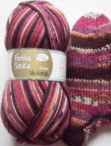 Rellana Sockenwolle, 150g, 6-fach, lila - purpur - braun