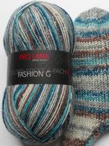Pro Lana Sockenwolle, 150g, 6-fach, blau-grau-braun