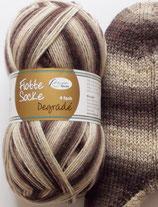Rellana Sockenwolle, 100g, 4-fach, braun - beige