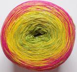 """Bobbel """"Regenbogen Metallic"""", mit Glitzer, 4-fädig, pink-gelb-kiwi"""
